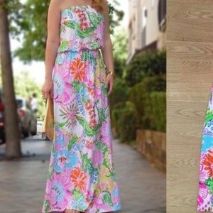 Lilly Pulitzer for Target Nosie Posey maxi dress